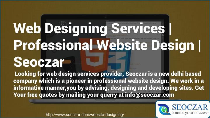 Web Designing Services   Professional Website Design  