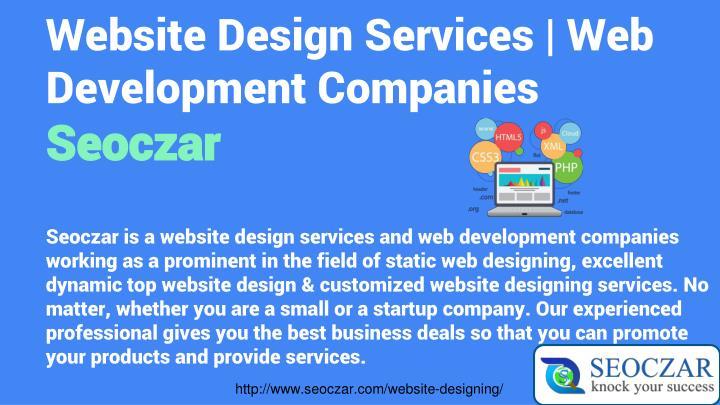Website Design Services   Web Development Companies