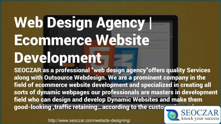 Web Design Agency   Ecommerce Website Development