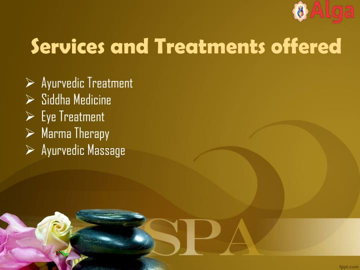 Services and treatments offered