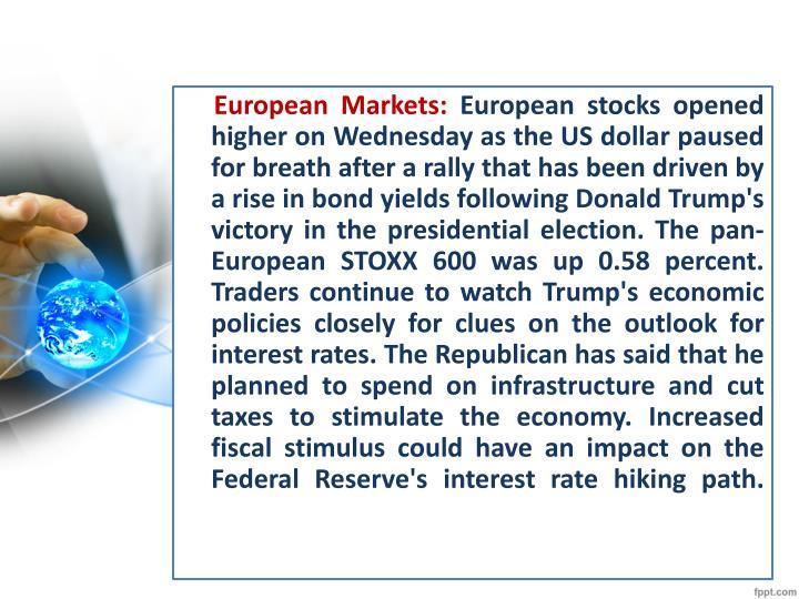 European Markets: