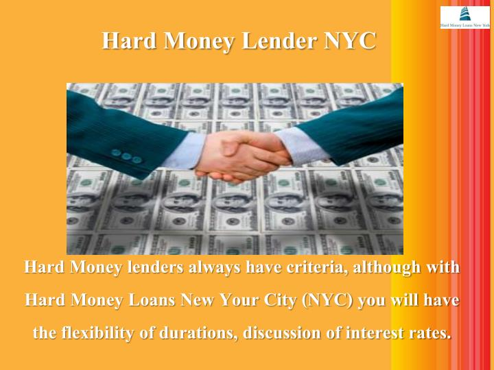 Hard Money Lender NYC