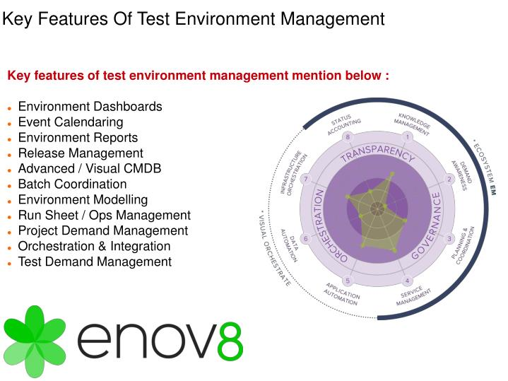 Key features of test environment management mention below :