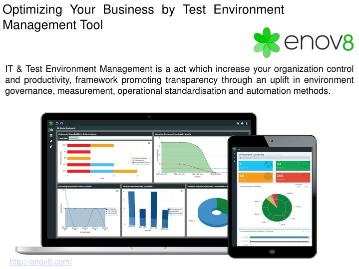 Optimizing your business by test environment management tool