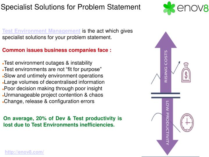 Specialist solutions for problem statement