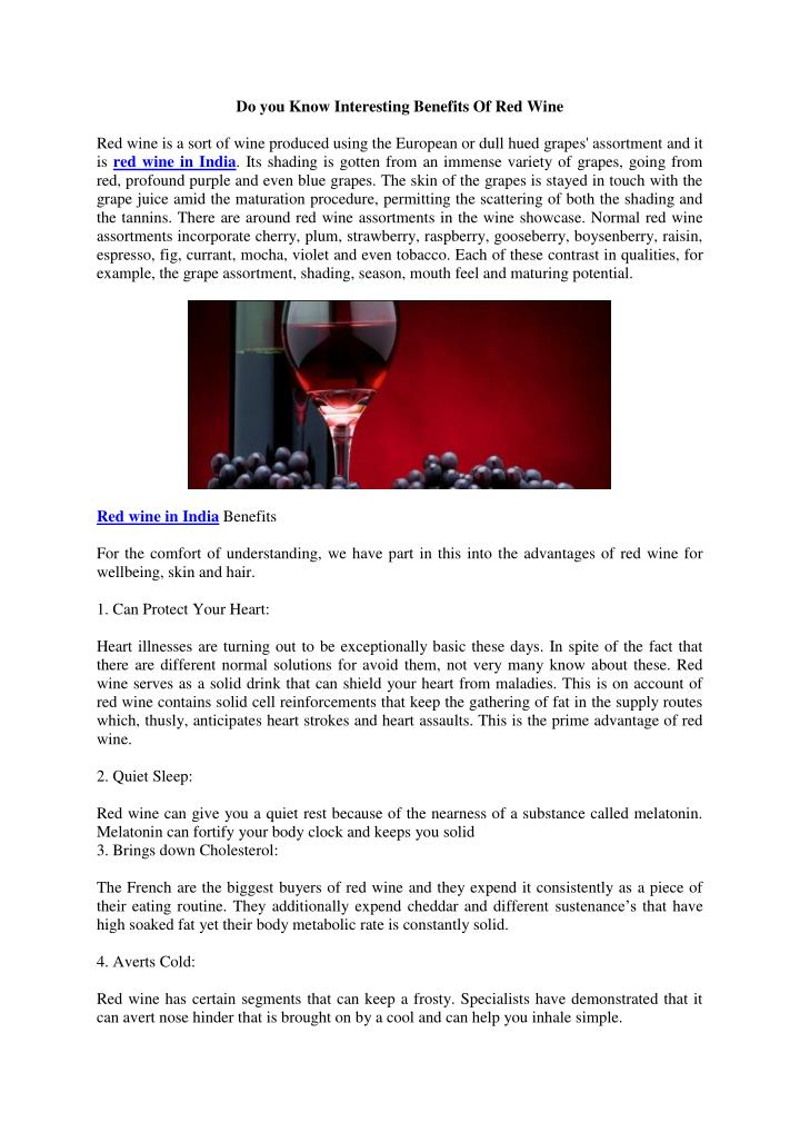 Do you Know Interesting Benefits Of Red Wine