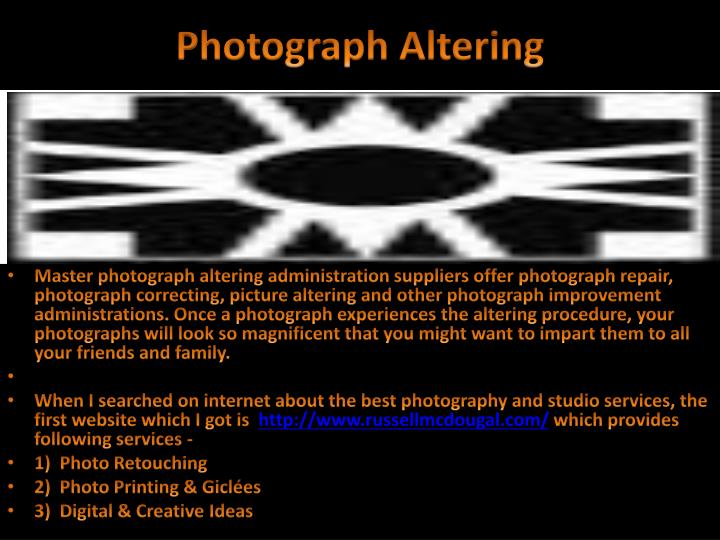 Photograph altering