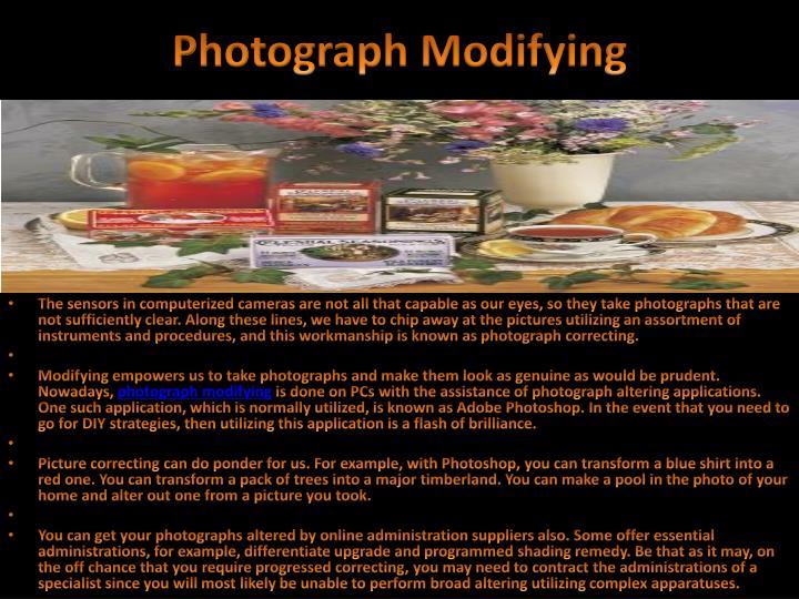 Photograph modifying
