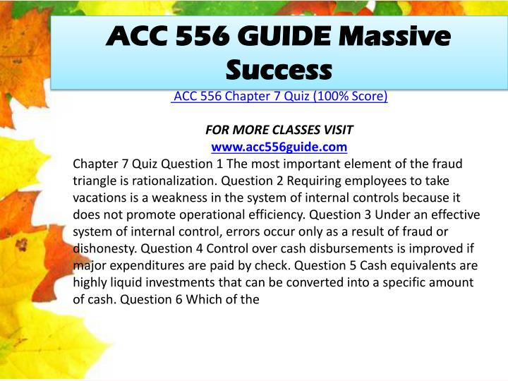 ACC 556 GUIDE Massive Success