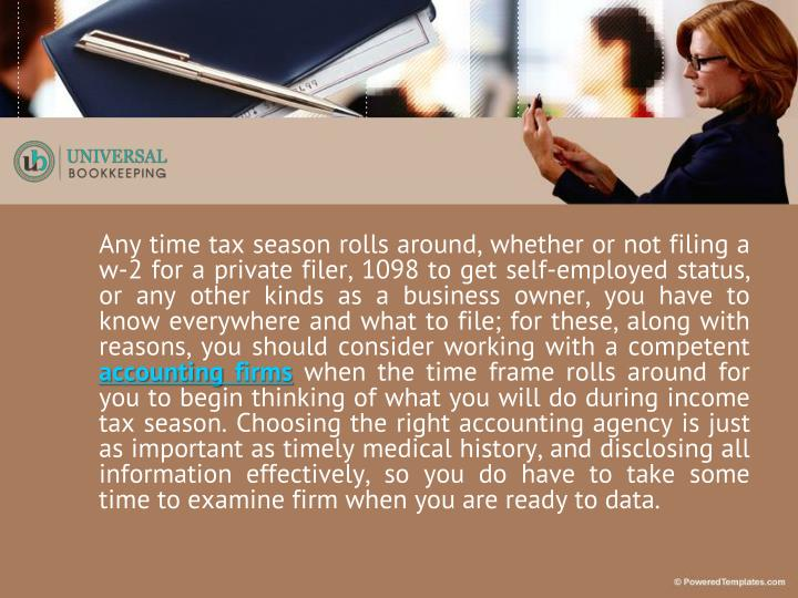 Any time tax season rolls around, whether or not filing a w-2 for a private filer, 1098 to get self-...