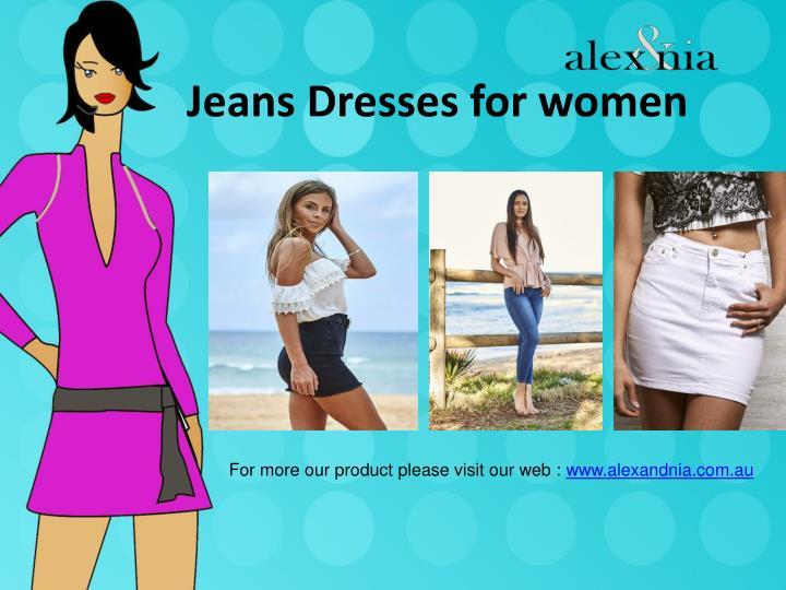 Jeans dresses for women1