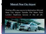 minicab near city airport