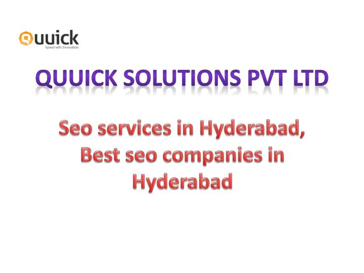 Quuick solutions pvt ltd