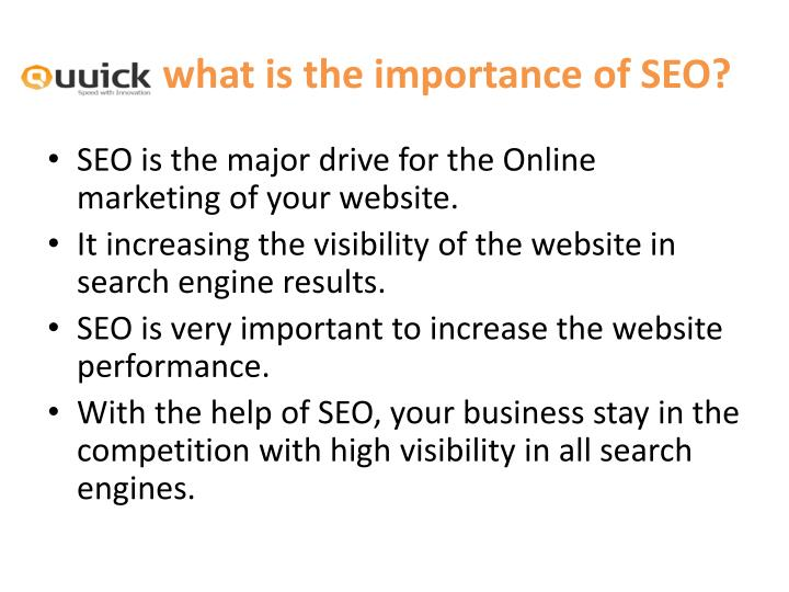 what is the importance of SEO?