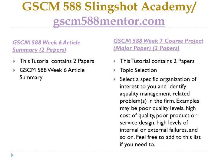 Gscm 588 slingshot academy gscm588mentor com2