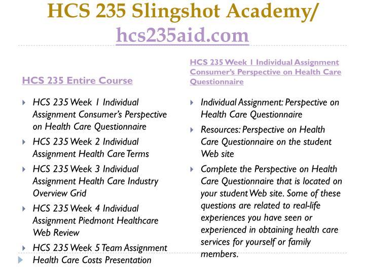 Hcs 235 slingshot academy hcs235aid com1