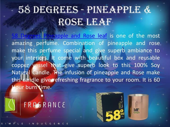 58 degrees pineapple rose leaf