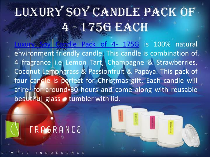 Luxury soy candle pack of 4 175g each