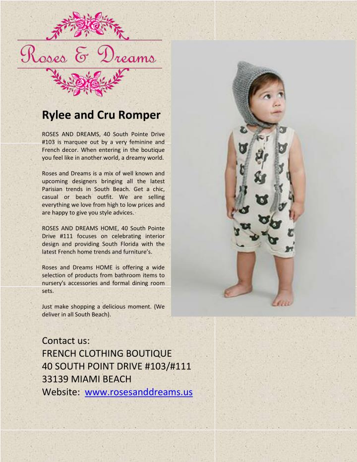 Rylee and Cru Romper