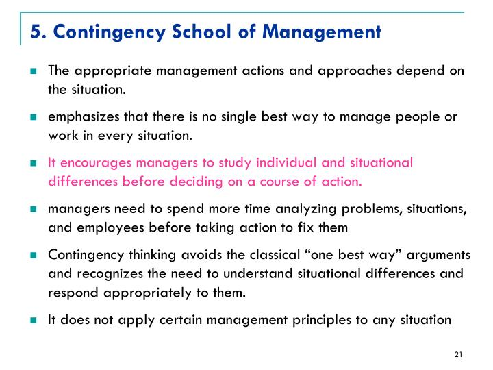 5. Contingency