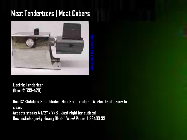 Meat Tenderizers | Meat Cubers