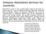 embassy attestation services for countries
