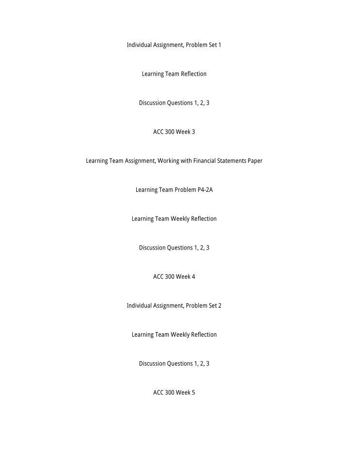Individual Assignment, Problem Set 1