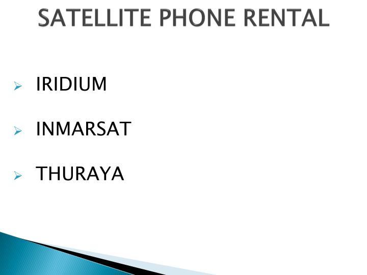 Satellite phone rental