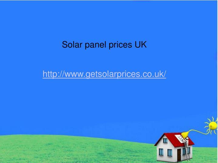 Solar panel prices UK