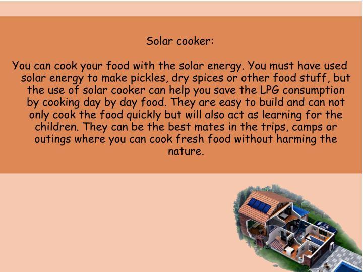Solar cooker: