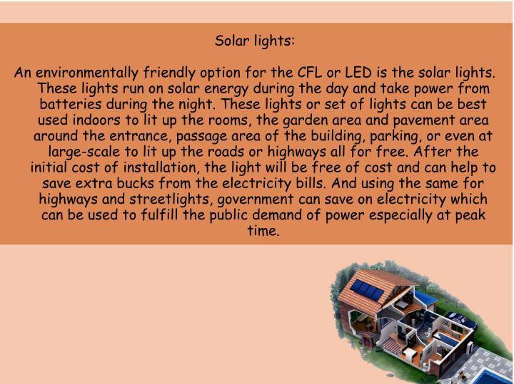 Solar lights: