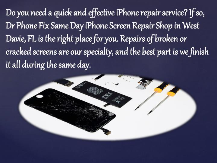 Do you need a quick and effective iPhone repair service? If so,