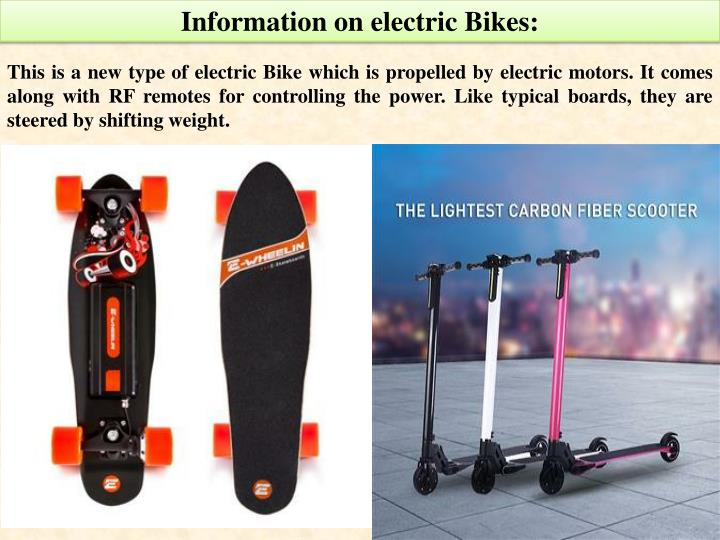 Information on electric Bikes: