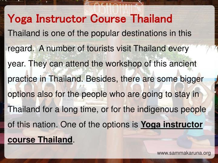 Yoga Instructor Course Thailand