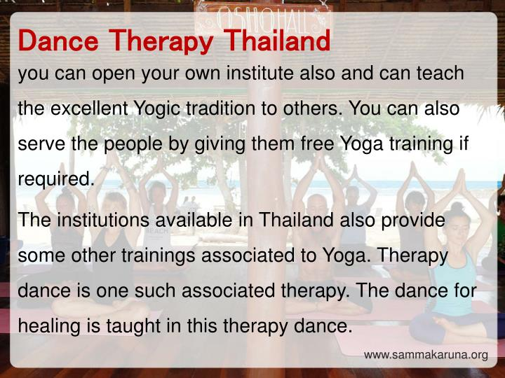 Dance Therapy Thailand