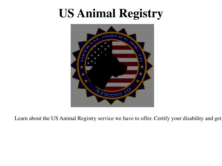 US Animal Registry