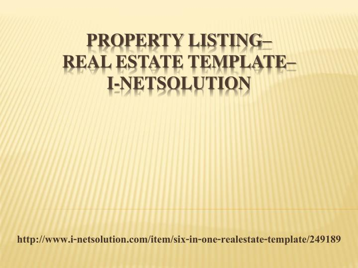 http www i netsolution com item six in one realestate template 249189