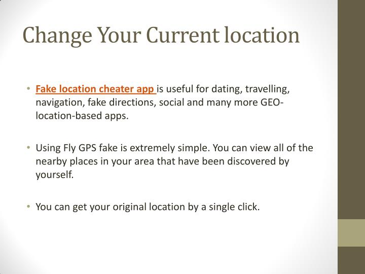 Change Your Current location