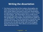 writing the dissertation