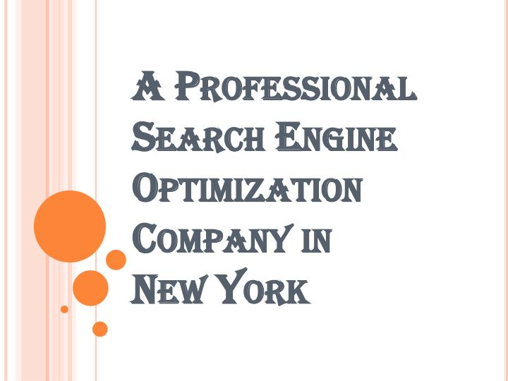 A professional search engine optimization company in new york