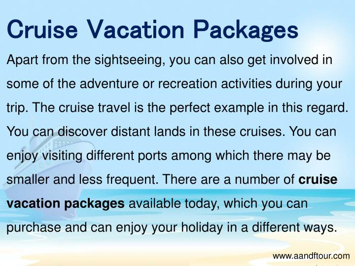 Cruise Vacation Packages