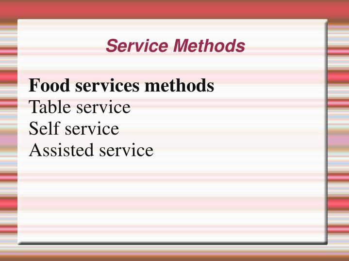 Service methods