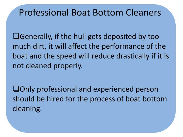 Professional Boat Bottom Cleaners