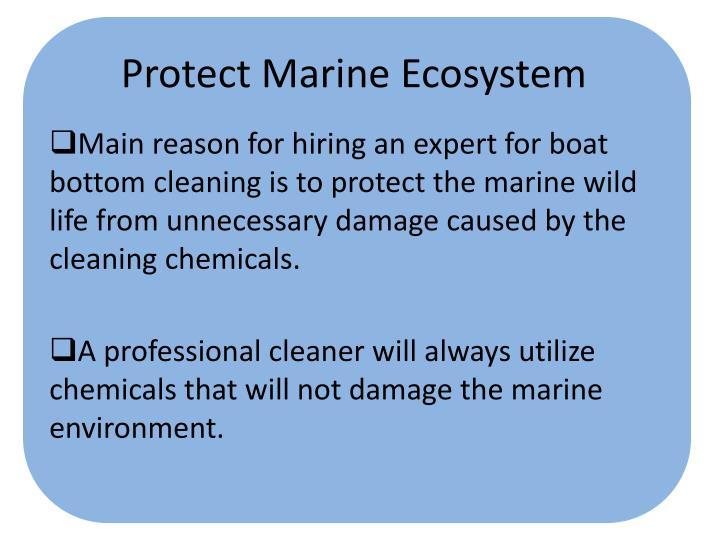 Protect Marine Ecosystem