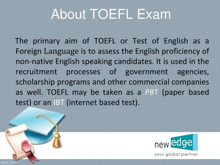About TOEFL Exam