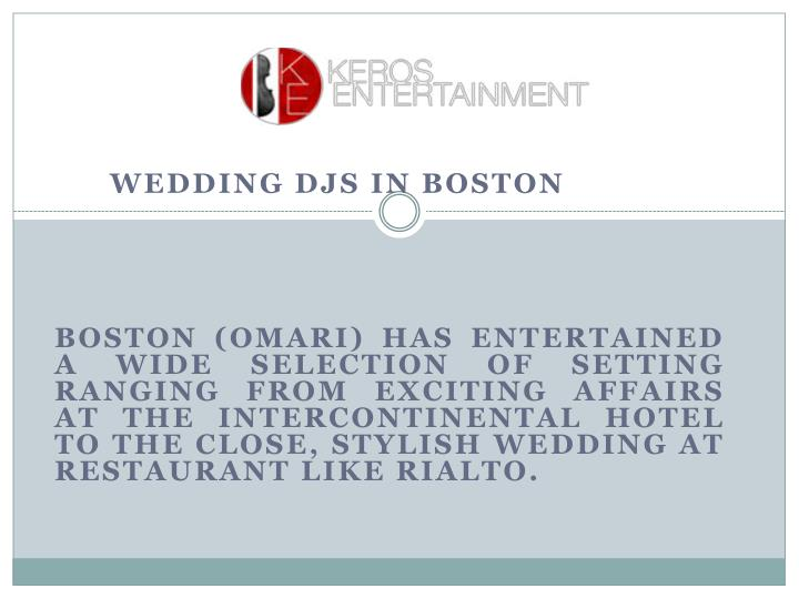 WEDDING DJS IN BOSTON
