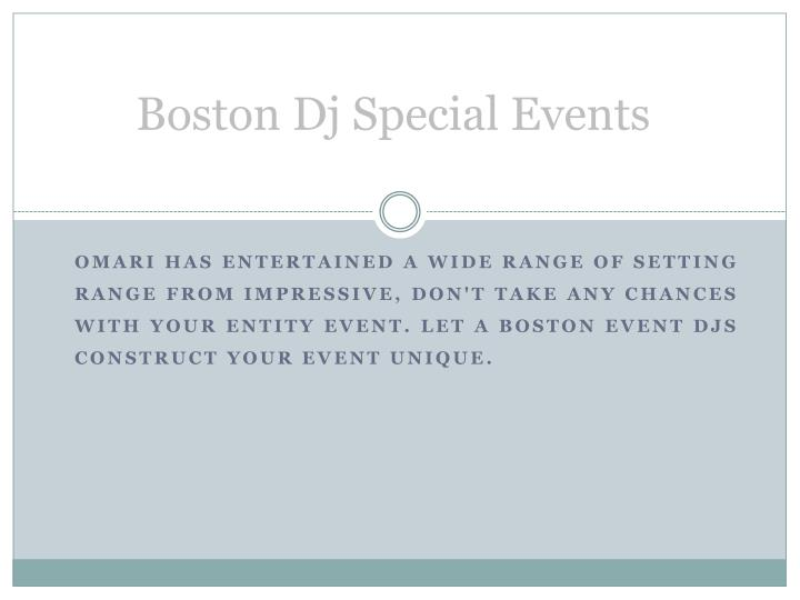 Boston Dj Special Events