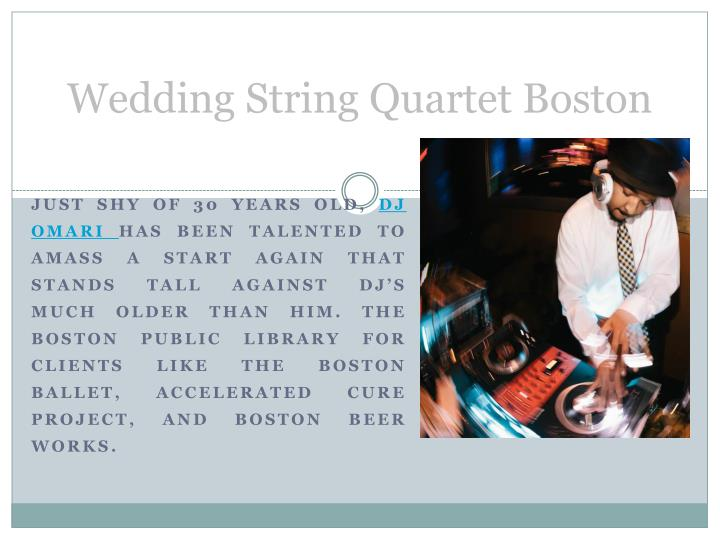 Wedding String Quartet Boston