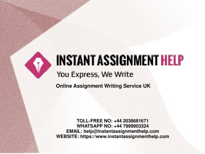 Online Assignment Writing Service UK