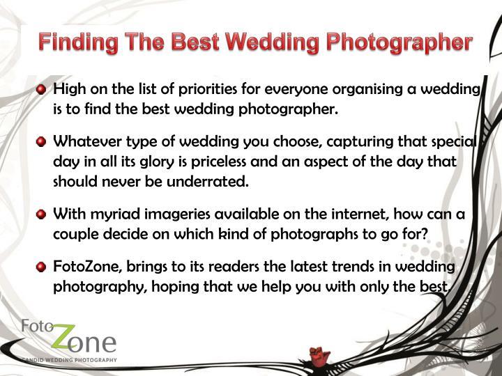 Finding the best wedding photographer